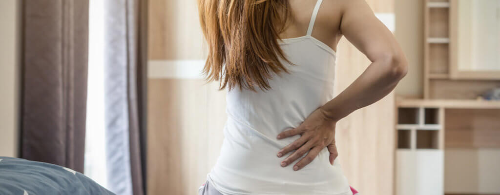 back pain after waking up